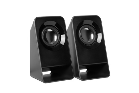 Computer speakers isolated on white