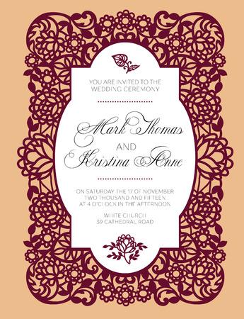 Wedding elegant invitation.