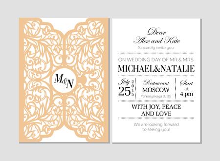 Wedding curved invitation.