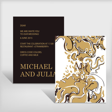 Wedding invitation postcard. Ilustracja