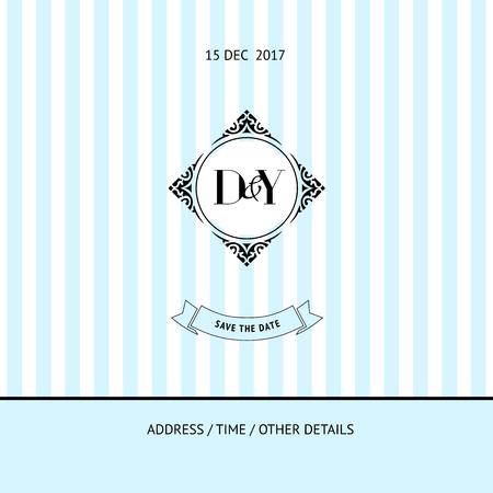 Sparen de datum uitnodigingskaart. template bruiloft. Stock Illustratie