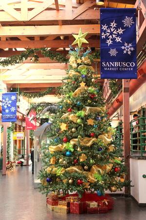 christmas in santa fe new mexico stock photo 34182856 - Christmas In Santa Fe