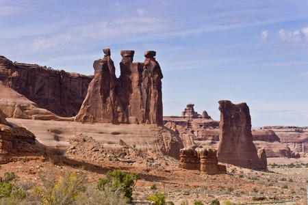 The Three Gossips, Arches National Park, USA photo