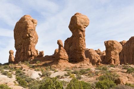 Natural sculptures in Arches National Park � Elephants. Utah, USA 免版税图像