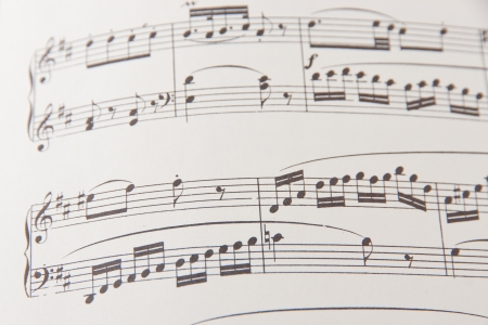 Music notes background  selective focus photo
