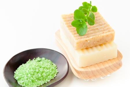 scincare: Natural handmade soap and bath salt for spa