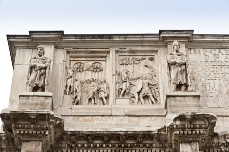 constantino: Details of Arch of Constantine  in Rome, Italy
