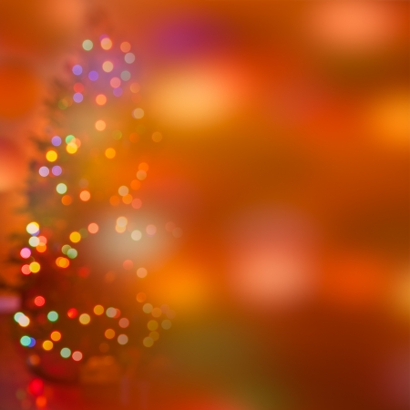 Festive abstract  art  Christmas Tree lights and decoration bokeh blurred out of focus background  photo