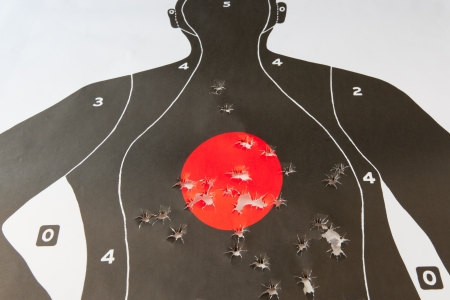 holes: bullet holes in the target