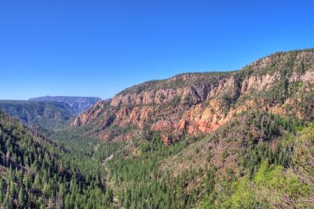 View of  Oak Creek Canyon Arizona, USA
