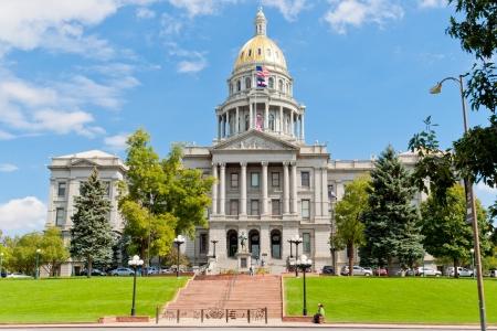 デンバー、コロラド州の州議会議事堂 写真素材