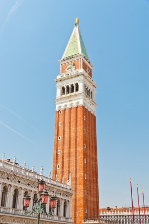 San Marco Campanile - bell tower of Saint Mark cathedral in Venice, Italy photo