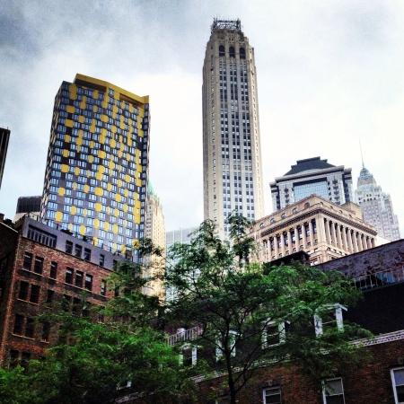 Buildings in lower Manhattan New York city Stock fotó