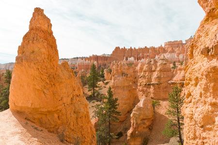 Beautiful rock formation - Hoodoos  in Bryce Canyon National Park  Utah, USA Stock Photo