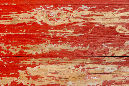rusty background: Painted red old wooden wall texture, rustic background