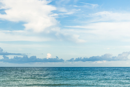 Blue sky and ocean view in the morning photo