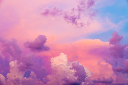 dramatic clouds: Colorful clouds on sunset sky, nature background