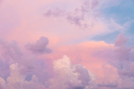 colorful sky: Colorful clouds on sunset sky, nature background
