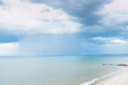 storm coming: Rain storm coming  over Atlantic ocean, Florida, USA