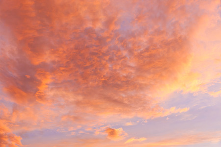 colorful cloudscape: Dramatic sunset sky with clouds