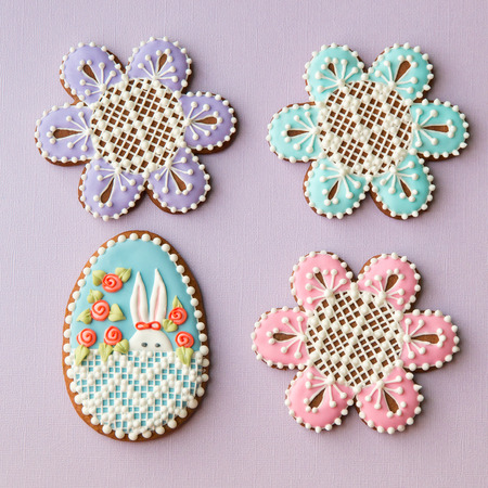 peekaboo: Home-baked and decorated Easter cookies.