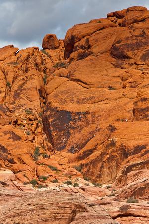 Rock climbing in Red Rock Canyon, Nevada, USA Stock Photo