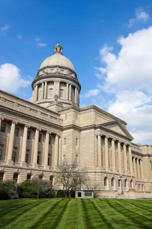 The south view of Kentucky State Capitol building. Frankfort, KY, USA.