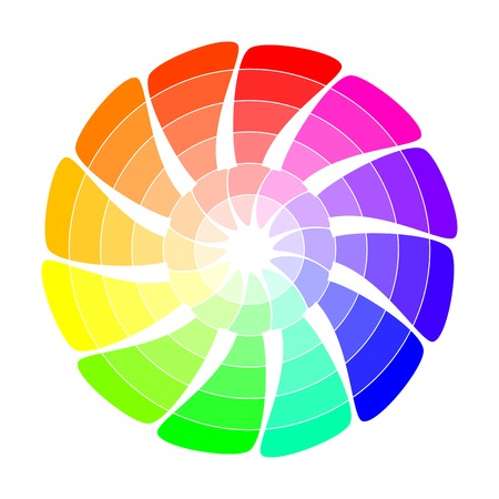 Colour wheel from concentric arrows