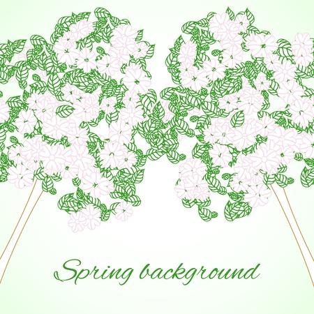 contoured: Fondo con los �rboles de primavera contorneada
