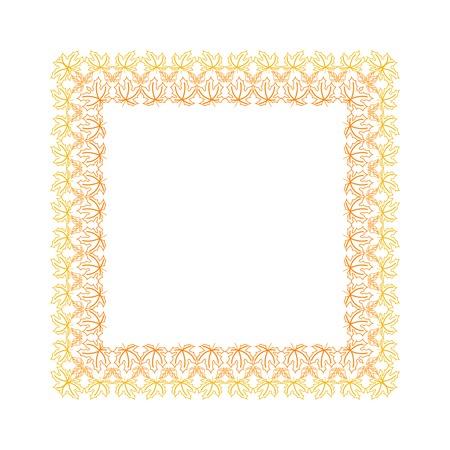 contoured: Marco con hojas de oto�o contorneada