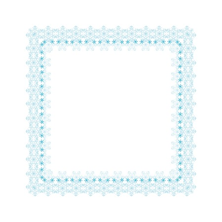 contoured: Frame with winter contoured snowflakes
