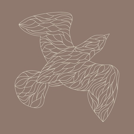 line drawings: Line drawings of bird, hand drawn illustration