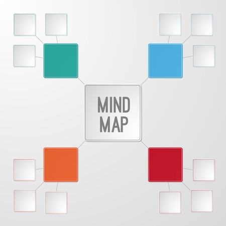 Infographic template of mind map for your text.