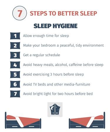 Sleep infographic. Illustration