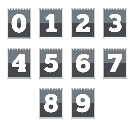 number icons: Set of number icons. Vector illustration