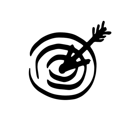 Vector highlighter target with arrow. Sketch Çizim