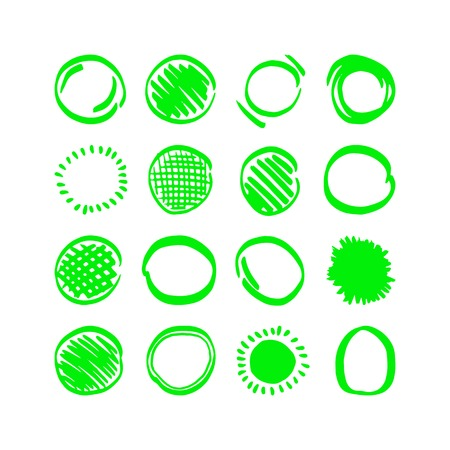 pompon: Vector highlighter elements - hand drawn circles Illustration