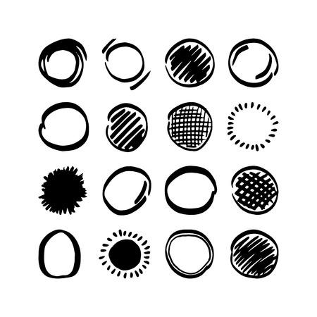 Vector highlighter elements - hand drawn circles Vector