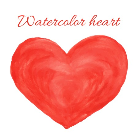 Watercolor hand drawn heart. Vector illustration Vector