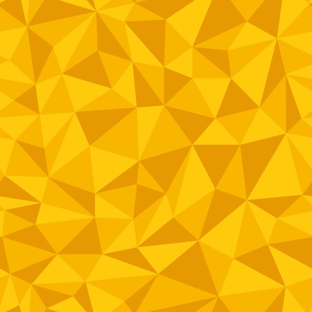 Geometric seamless pattern  from triangles. Yellow vector illustration.