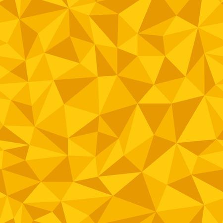 Geometrico senza soluzione di continuità da triangoli. Giallo illustrazione vettoriale.