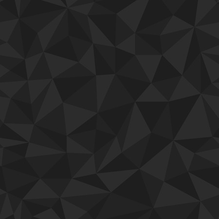 jammed: Geometric seamless pattern from triangles. Black vector illustration.