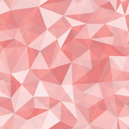 Geometric seamless pattern  from triangles. Red vector illustration. Vector