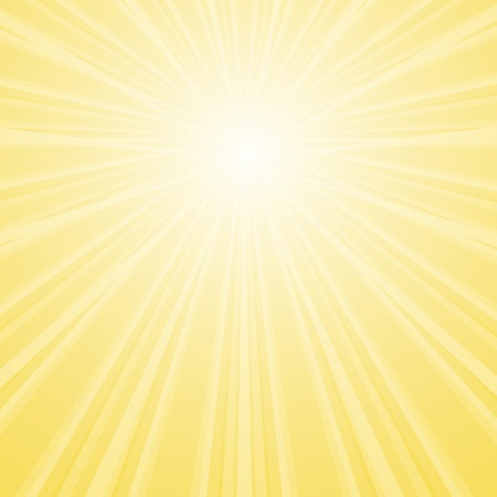 Vector stylish background with shining star with divergent bundle of beams in the sky in yellow colors for cover, flyer, banner, etc.