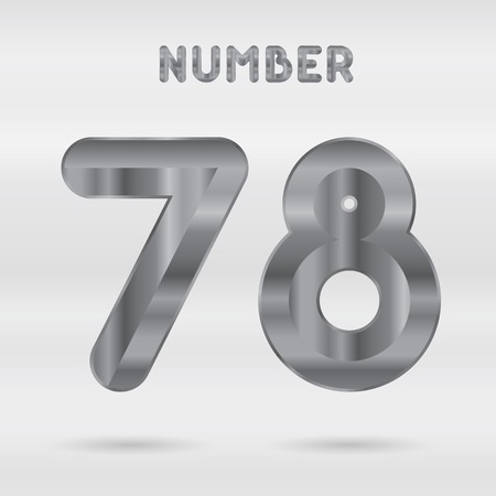 stainless: Metallic alphabet. Set of stainless 3d numbers.  Illustration
