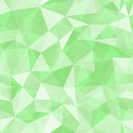 Geometric seamless pattern  from triangles. Green vector illustration. Vector