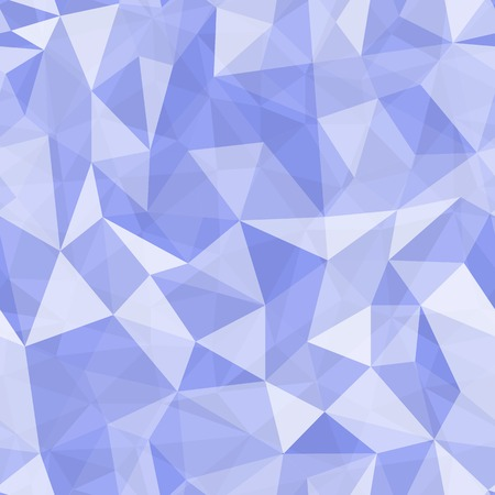 Geometric seamless pattern  from triangles. Blue vector illustration. Vector