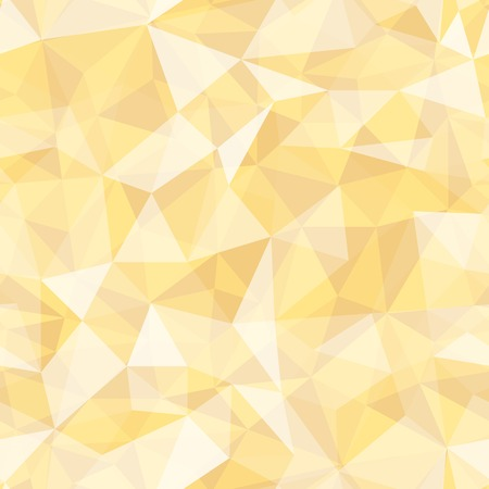 Geometric seamless pattern  from triangles. Yellow vector illustration. Vector