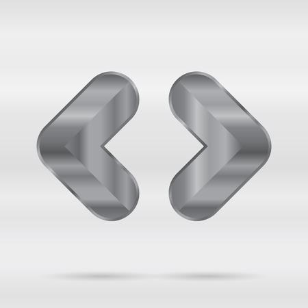 punctuation mark: Alfabeto met�lico. Conjunto de letras 3d inoxidable. Soportes angulares Vector puntuacion marca.