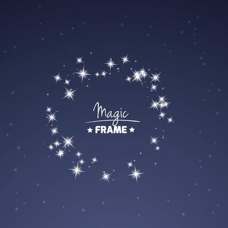 Magic Frame pour votre texte à partir d'étoiles brillantes. Vecteur décoration.